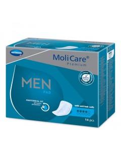 Absorpční vložky MoliCare Men 4 kapky, 14 ks
