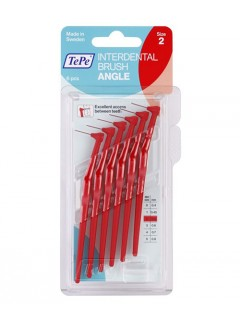 Mezizubní kartáčky TePe Angle 0,5 mm červené, 6 ks