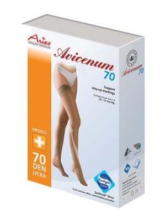 Podpůrné stehenní punčochy Avicenum 70 samodržící krajka