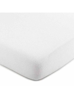 Prostěradlo froté nepropustné 200 x 90 cm bílé