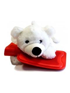 Termofor dětský s plyšovým obalem lední medvěd 0,7l