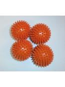 Akupresurní míček - ježek 6 cm oranžový