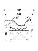 Elektrické polohovací lůžko PB 526