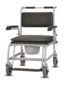 Toaletní křeslo s kolečky Commode Wheelchair XXL se zvýšenou nosností do 250 kg