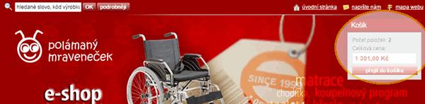 Jak nakupovat - košík - přejít do košíku